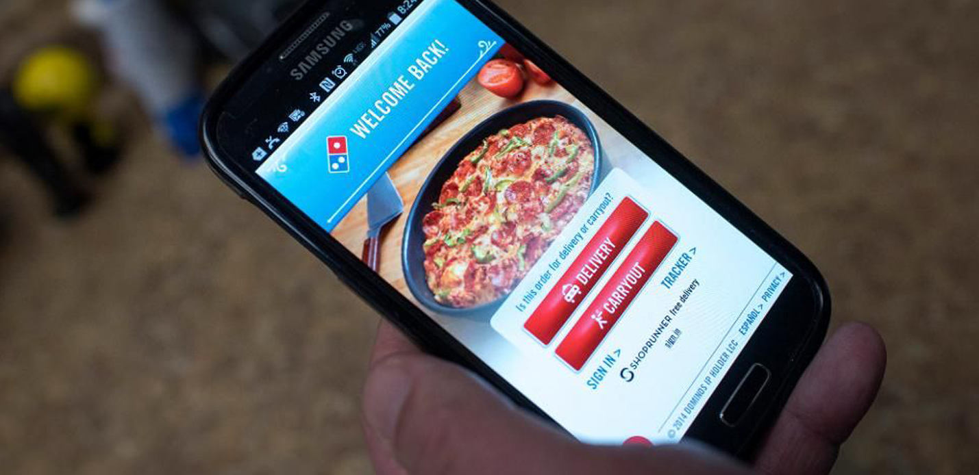 Retail technology mobile app promotion trends Dominos Pizza