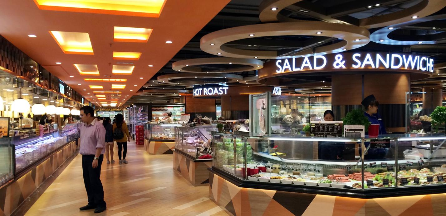 Taste supermarket Hong Kong delicatessen counter design