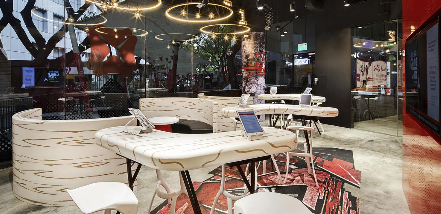 DBS Bank Singapore innovation customer cafe lounge