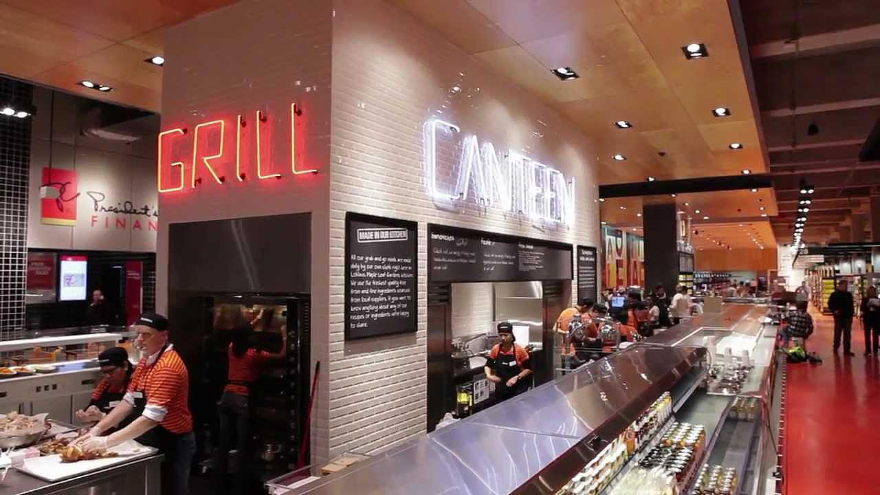 Loblaws supermarket canteen grill - benchmark