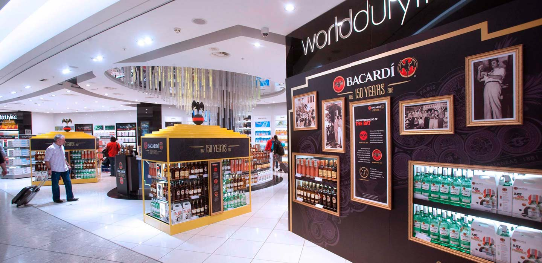 Innovative duty free store design and branding Heathrow Terminal 5 designed by CampbellRigg