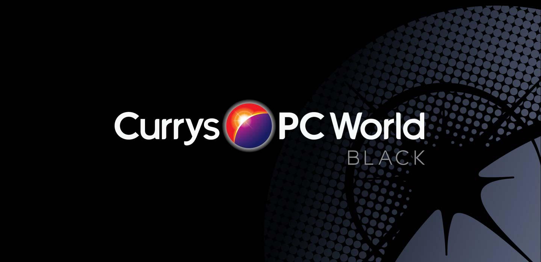 Currys PCWorld brand identity and sub-brand Black designed by CampbellRigg