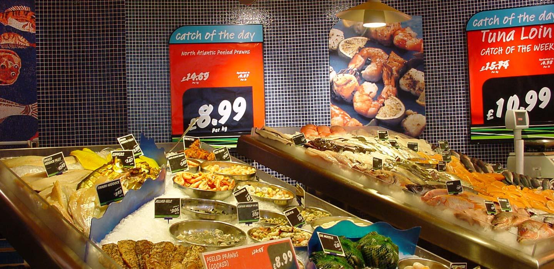 Safeway convenience store fish counter design