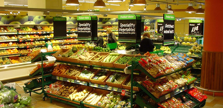 Safeway convenience store fresh produce department merchandising design