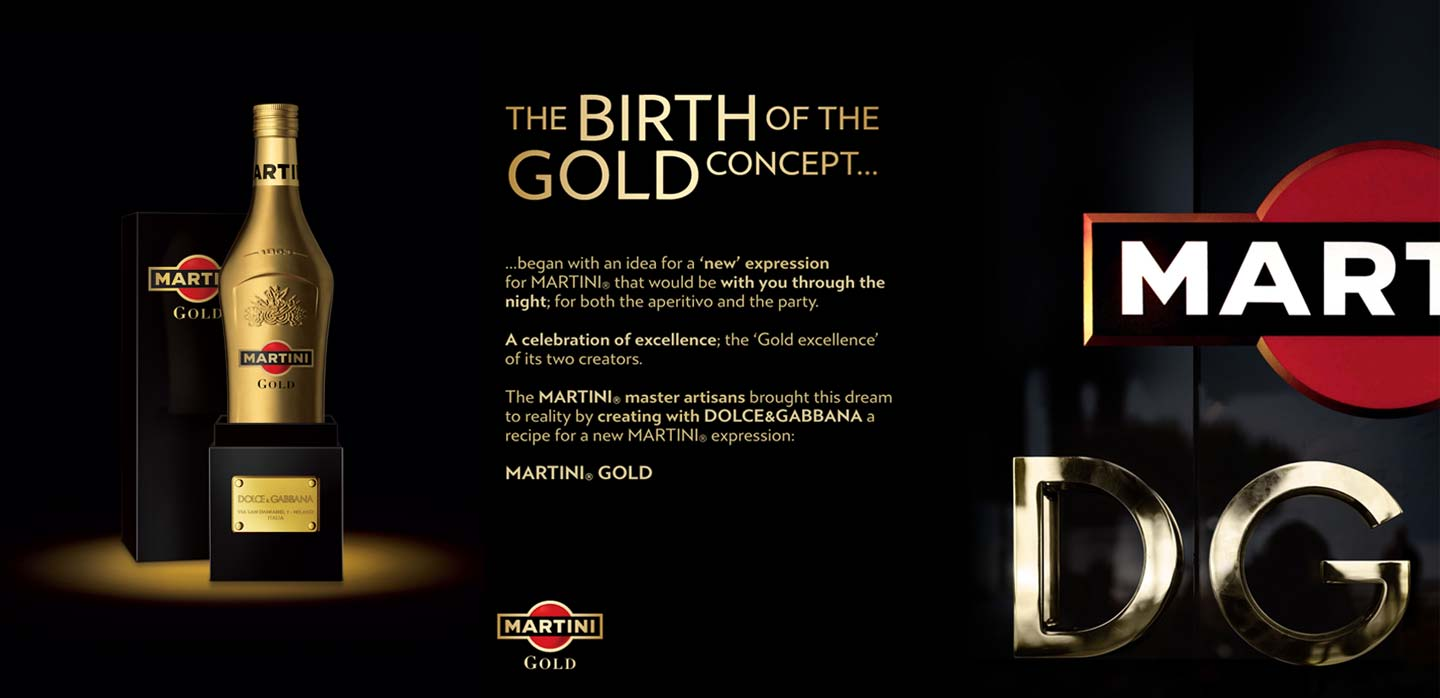 Innovative graphic promotion Martini Gold