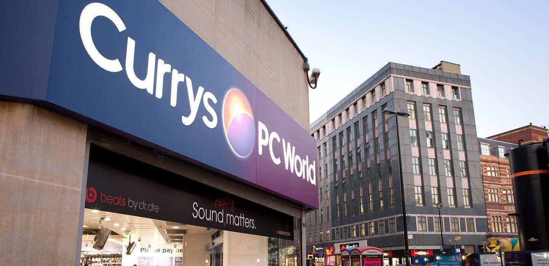 Currys PC World fascia design London