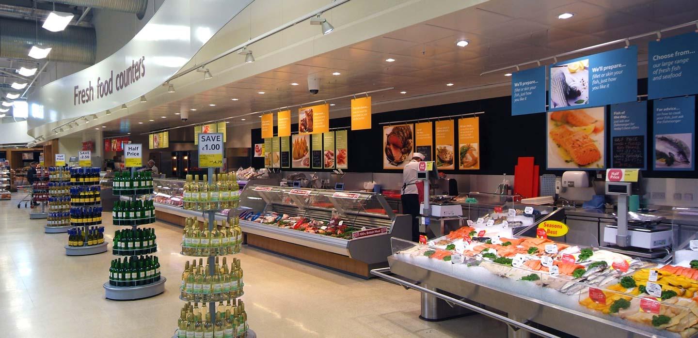 Tesco fresh food counter store design