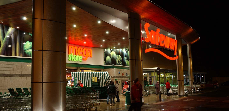 Safeway Hypermarket architectual entrance canopy