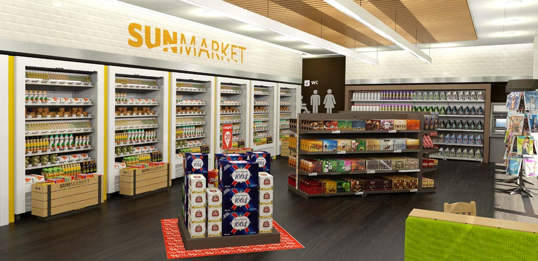 WOG new petrol forecourt interior store design concept designed by CampbellRigg