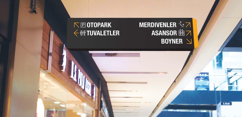 Marmara Forum navigation system Istanbul, Turkey designed by CampbellRigg