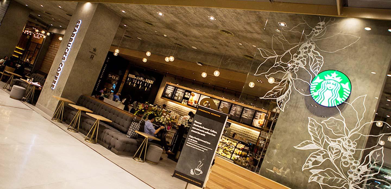Starbucks restaurant EmQuartier Bangkok, Thailand