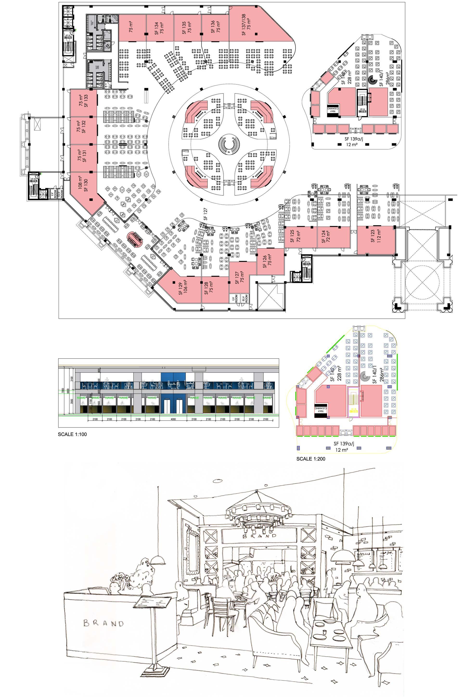 Shopping centre interior design food court branding for Service design agency london