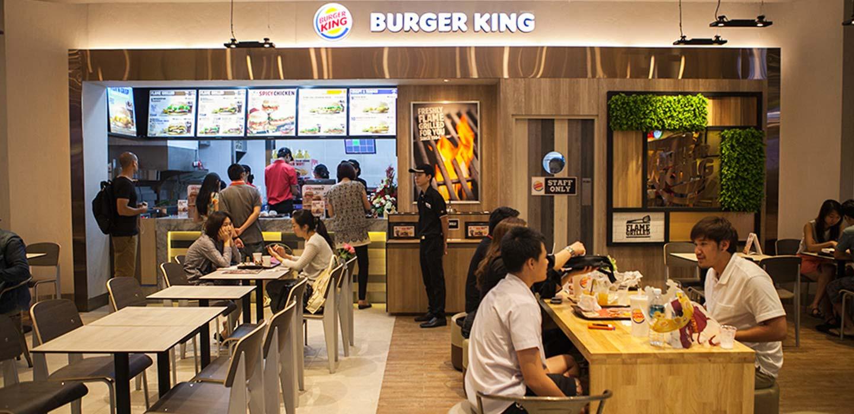 Burger King restaurant EmQuartier Food Hall Bangkok