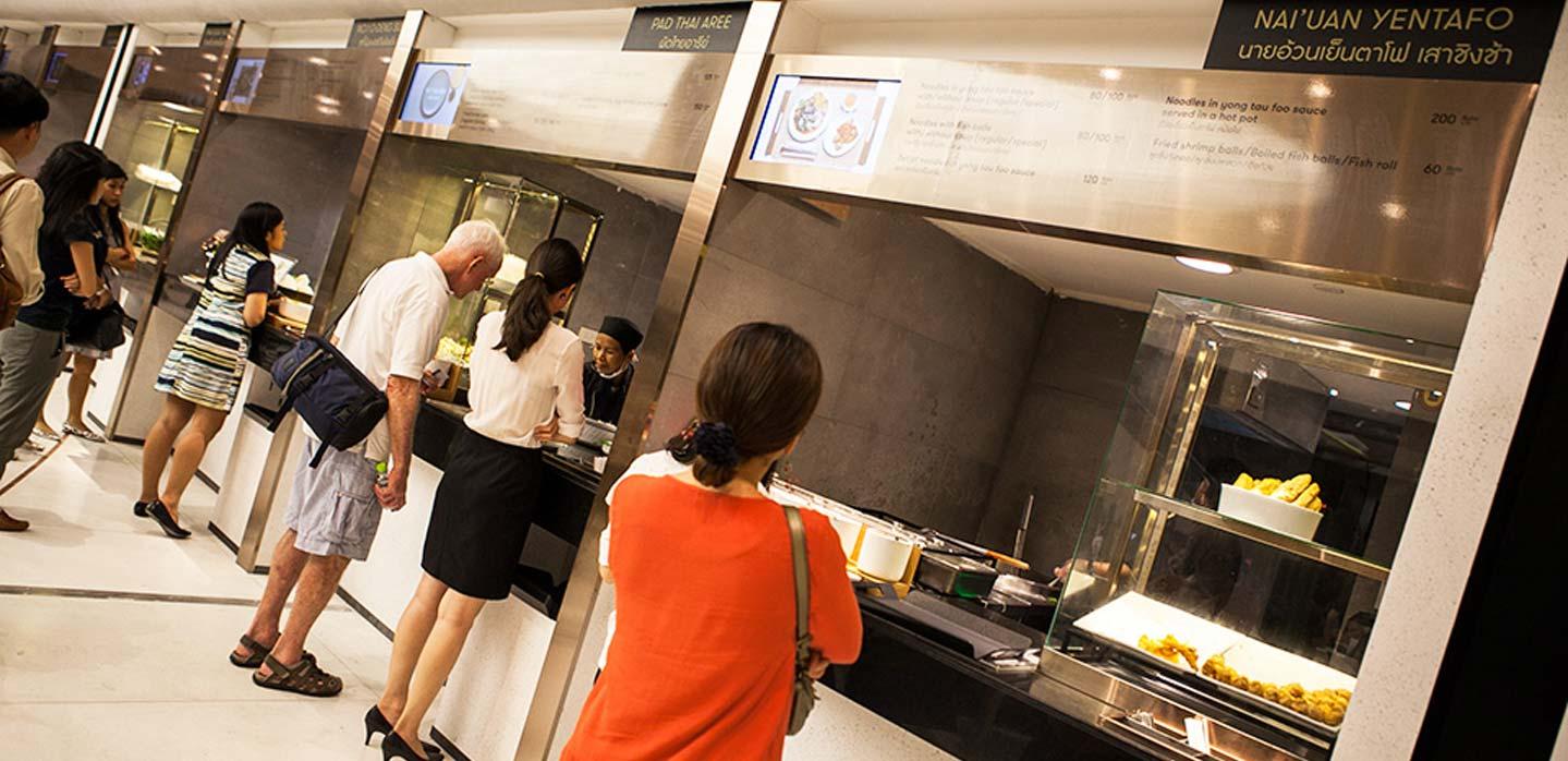 Hawker food concept EmQuartier Food Hall Bangkok