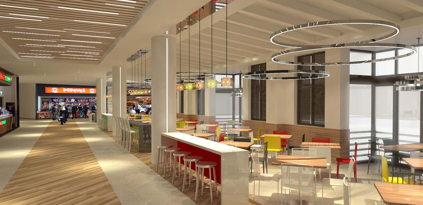 Forum Istanbul Mall Food Court Istanbul, Turkey designed by CampbellRigg