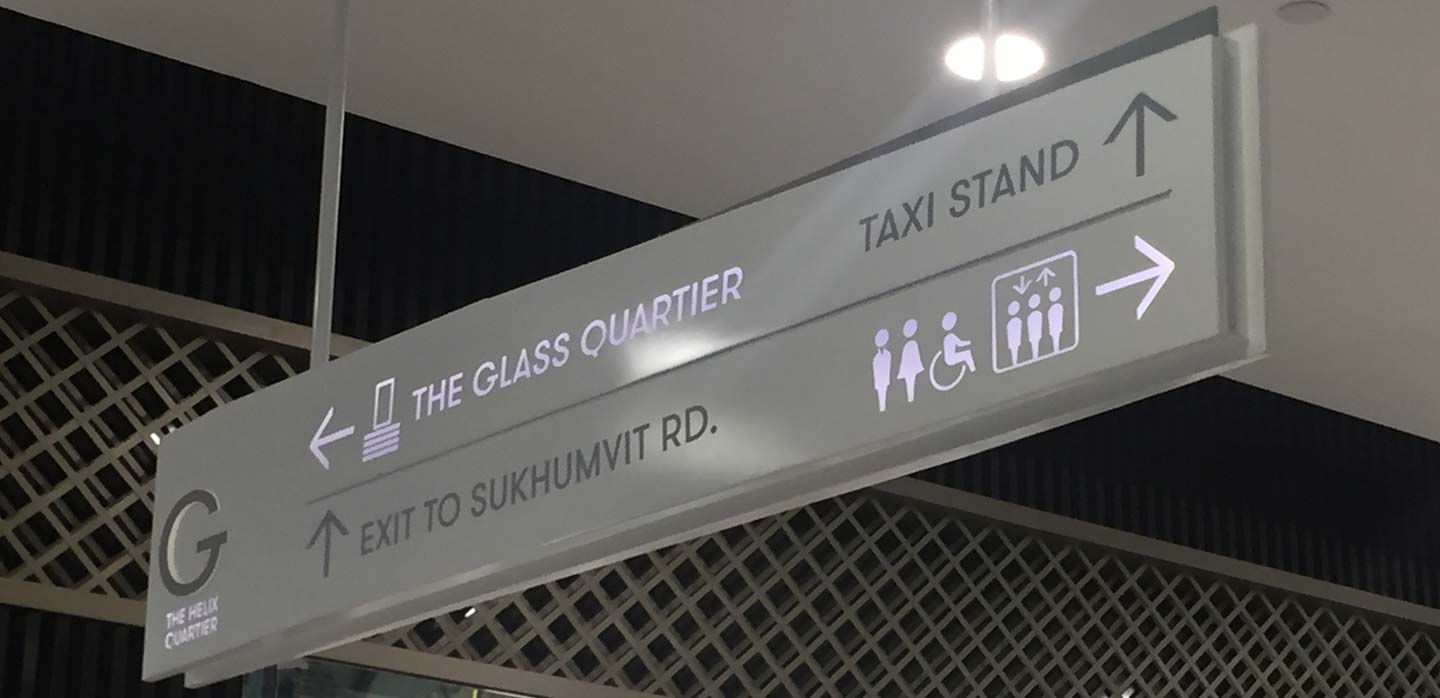 Shopping Mall Signage And Way Finding Navigation Design