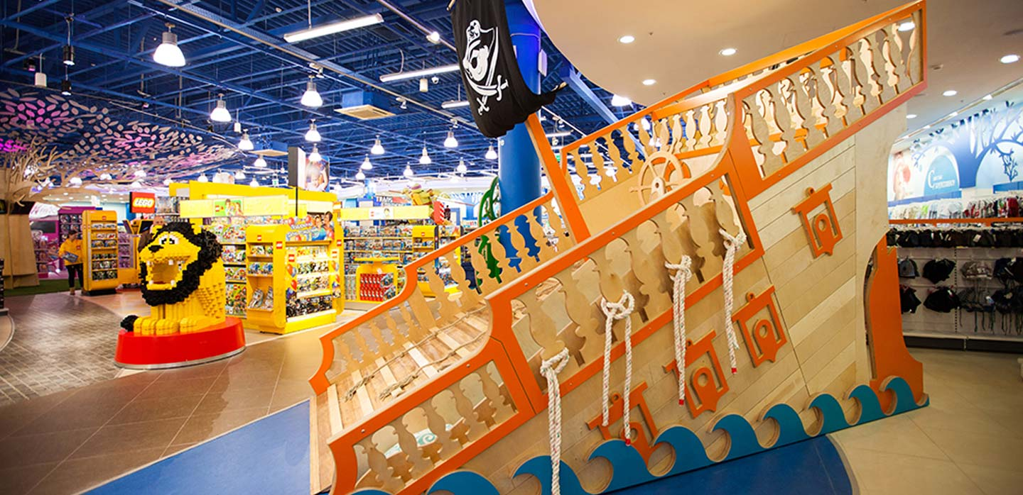 Pirate ship and Lego department